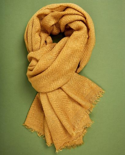 Sjaal met zigzagpatroon